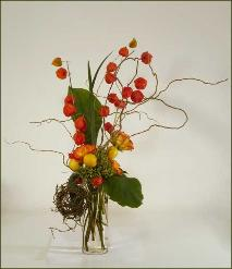 Chinese Lanterns Bouquet with Curly Willow