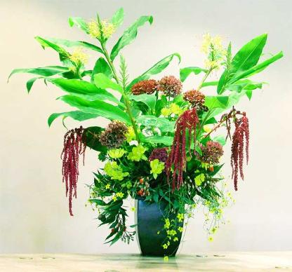 Five foot tropical bouquet, Smith Ranch, San Rafeal.