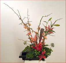 Branches Ikebana - Japanese flower arrangement