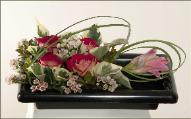 Ikebana inspired by Japanese train station lunch box