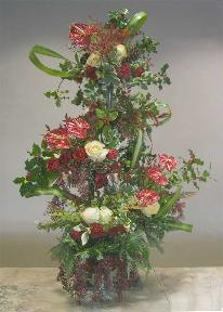 Five Footer Bouquet with red anthuriums