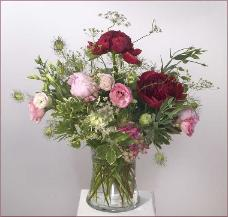 English Garden Arrangement with Peonies