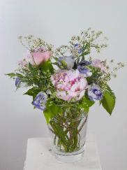 Peonies with Lisianthus bouquet